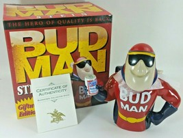 Vintage 1993 Budweiser Bud Man Ceramic Beer Stein Anheuser Busch New in Box COA