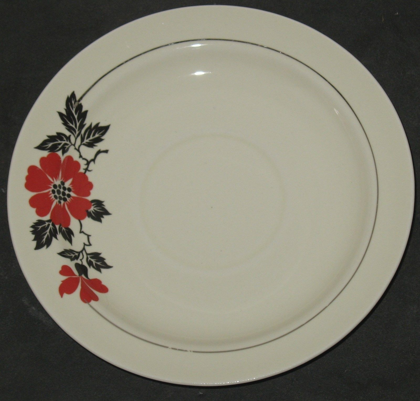 Vtg Superior Hall Quality Dinnerware Red Poppies Poppy 6  Saucer Plate & Vtg Superior Hall Quality Dinnerware Red and 50 similar items