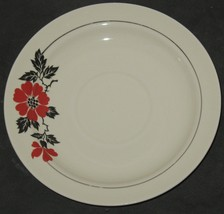 """Vtg Superior Hall Quality Dinnerware Red Poppies Poppy 6"""" Saucer Plate - $8.91"""