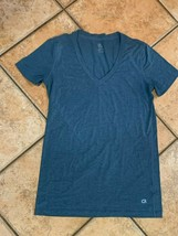 GAP FIT BREATHE TEE T-SHIRT V-NECK TEAL GREEN SUPER SOFT ATHLETIC CASUAL... - $8.99