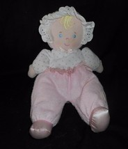 "12"" EDEN LEARNING CURVE BLONDE BABY DOLL PINK RATTLE STUFFED ANIMAL PLUS... - $32.73"