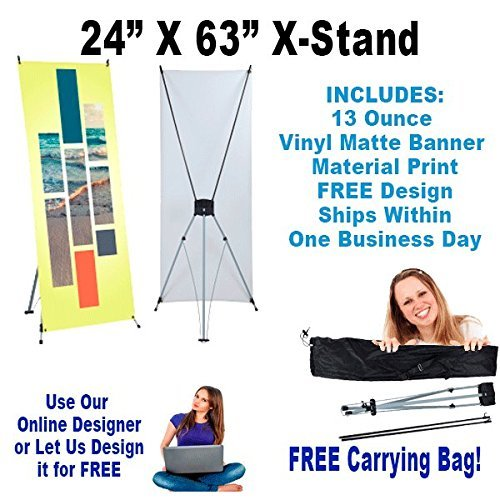 "24"" x 63"" X-Stand includes Vinyl Banner Print!"