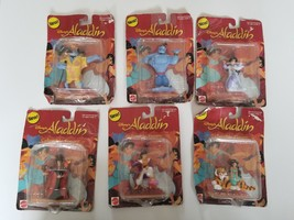 Lot 6 Aladdin Collectible Figures Mattel 1993 Disney's New in Package   - $28.91