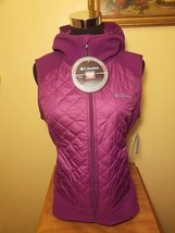 Columbia Warmer Days Hooded Thermal Coil Warm Tech Vest - Purple - Small S - $37.47
