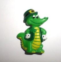 Hallmark Cards ☘ St Patrick's Day Leprechaun Alligator - Plastic Brooch Pin 1984 - $10.00