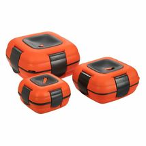 Paloma Set of 3 Plastic Lunch Containers Food Storage Boxes Orange - $80.00