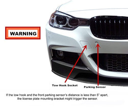 JGR No Drilling Tow Front Bumper License Plate Relocation Kit BMW M3 2014-2018 image 3