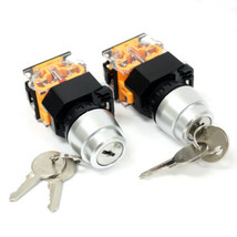 2pc On/Off 2 Position Rotary Keylock Select Switch 1NO+1NC (DPST) 440V 10A - $9.89