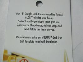 """Atlas # BLMA58 18"""" Straight Grab Irons .007 Wire 20 Pack N-Scale image 3"""