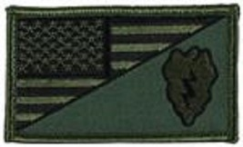 Army 25TH Infantry Od Green Flag 2 X 3 Embroidered Patch With Hook Loop - $17.14
