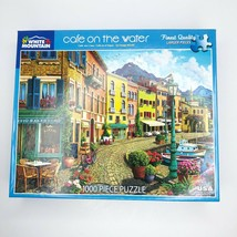 White Mountain Puzzles CAFE ON THE WATER 1000 Pieces Jigsaw Puzzle Ages 12+ - $38.52