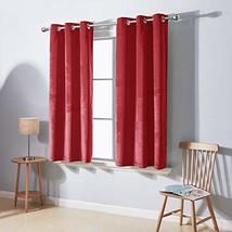 Deconovo Royal Soft Luxury Velvet Curtains Panel Living Room Sound Reducing Wind