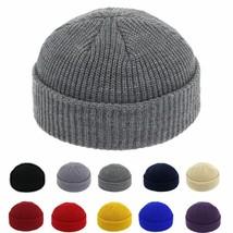 Brimless Hats Hip Hop Beanie Skullcap For Women Men Knitted Acrylic Casu... - $13.11