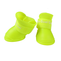 (yellow size S)4PCS/set Lovely Dog Shoes Puppy Candy Colors Rubber Boots W - $16.00