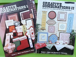 Hardanger Embroidery Creative Combinations I II Pattern Book Lot Doily B... - $33.66