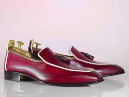 Bespoke Pink Tussle Leather Loafers for Men's - $159.97 - $169.97