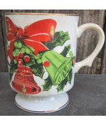 Lefton Christmas Holiday Bell Mugs Cups Set of 3 - $12.99
