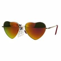 Love Heart Shape Sunglasses Metal Spring Hinge Mirror Lens UV 400 - $9.95