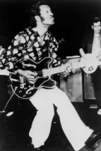"""Chuck Berry iconic on stage with guitar doing """"walk"""" 4x6 inch real photo - $4.75"""