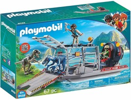 PLAYMOBIL Enemy Airboat with Raptor Building Set - $38.69