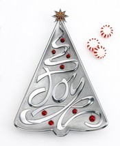 Lenox Holiday Gifts JOY Metal Silver Christmas Tree Tray - NEW - $19.99
