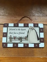 Kurt S. Adler WARM IS THE HEART THAT HAS A FRIEND Red & White with SNOWM... - $8.59