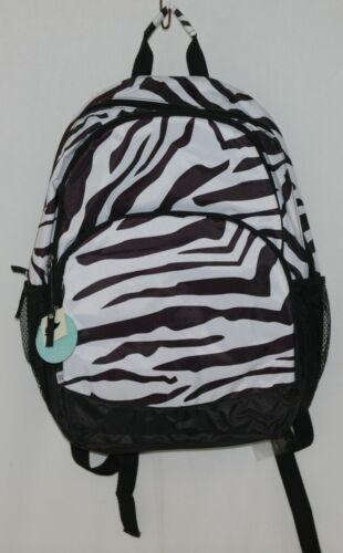 Room It Up Product Number TCDB6219 Black White Zebra Print Backpack