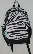 Room It Up Product Number TCDB6219 Black White Zebra Print Backpack image 1