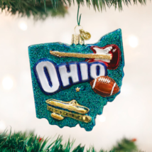"""Old World Christmas State Of Ohio """"The Buckeye State"""" Glass Ornament 36182 - $15.88"""