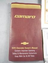79 1979 CHEVY CAMARO OWNER'S MANUAL OPERATIONG MANUAL - $37.60