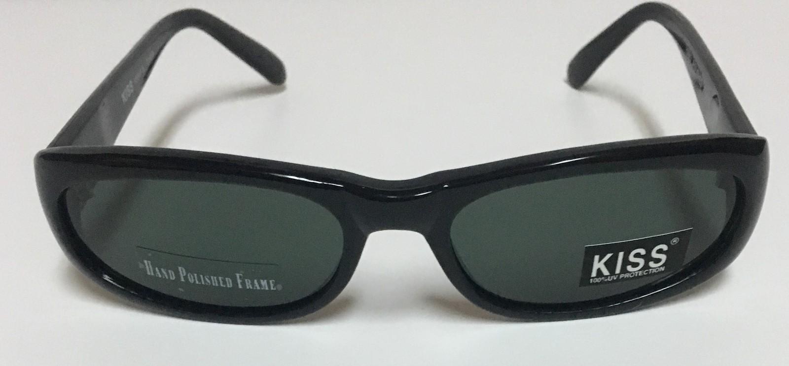 371254242d7 KISS Italy Designed Sunglasses 100% UV Protection Black Green Lens