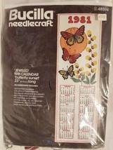 """New Bucilla Needlecraft """"Jeweled"""" 1981 Calendar Butterfly Sunset 48594 - $11.87"""