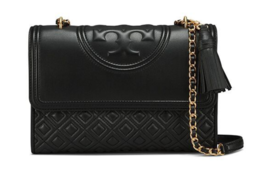Tory Burch Fleming Large Convertible Shoulder Bag Black Color with Free ... - $293.00