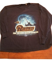 Long Sleeve Ram's T-Shirt NFC West Champions 2003-(T-Shirt is Lee Brand)... - €13,31 EUR