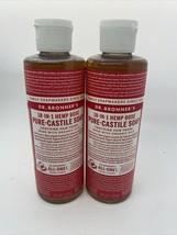 2x Dr. Bronner's Rose Pure Castile Soap Rose 8 oz Each - $16.82