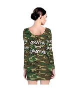 Skate and Destroy Camo Apparel  Long SLeeve Bodycon Dress - $19.99+