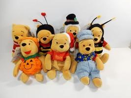 "Disney Store Winnie the Pooh 8"" Bean Bag Plush Lot w/Tags - $37.39"