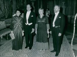 Anna-Greta Leijon with husband and Anita Gradin with a husband at the ro... - $16.61