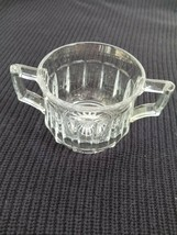 Authentic Heisey Narrow Flute Clear Glass Open Sugar Bowl - $19.75