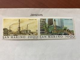 San Marino Chicago mnh 1986   stamps - $6.50