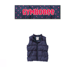 Gymboree Girls Bundled & Bright Collection Polka Dot Puffer Vest NWT 4 / 5-6 - $29.99