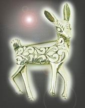 HAUNTED ANTIQUE PIN WHITE STAG OF LIGHT MAGICK MYSTICAL TREASURES 7 SCHOLAR - $177.77