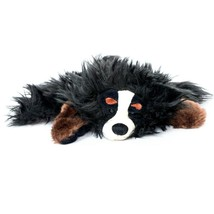 """Wild Republic Dog Puppet Plush 9"""" Collie Hand Glove Black Brown Furry 2008 - $17.68"""
