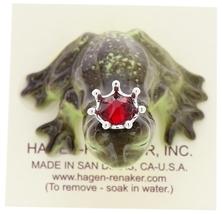 Hagen-Renaker Miniature Frog Prince Kissing Birthstone 07 July Ruby image 5