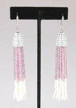 INC International Concepts Color Argento Viola Bianco Con Nappa Orecchini Nwt