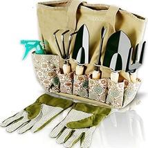 Scuddles Garden Tools Set - 8 Piece Heavy Duty Gardening Kit with (Light... - £30.92 GBP