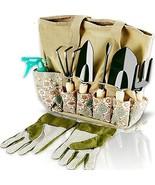 Scuddles Garden Tools Set - 8 Piece Heavy Duty Gardening Kit with (Light... - £31.14 GBP