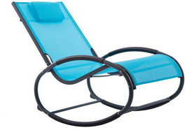 Vivere Rocking Chair 330 lb. Capacity Weather Rresistant Aluminum Ocean ... - £102.28 GBP