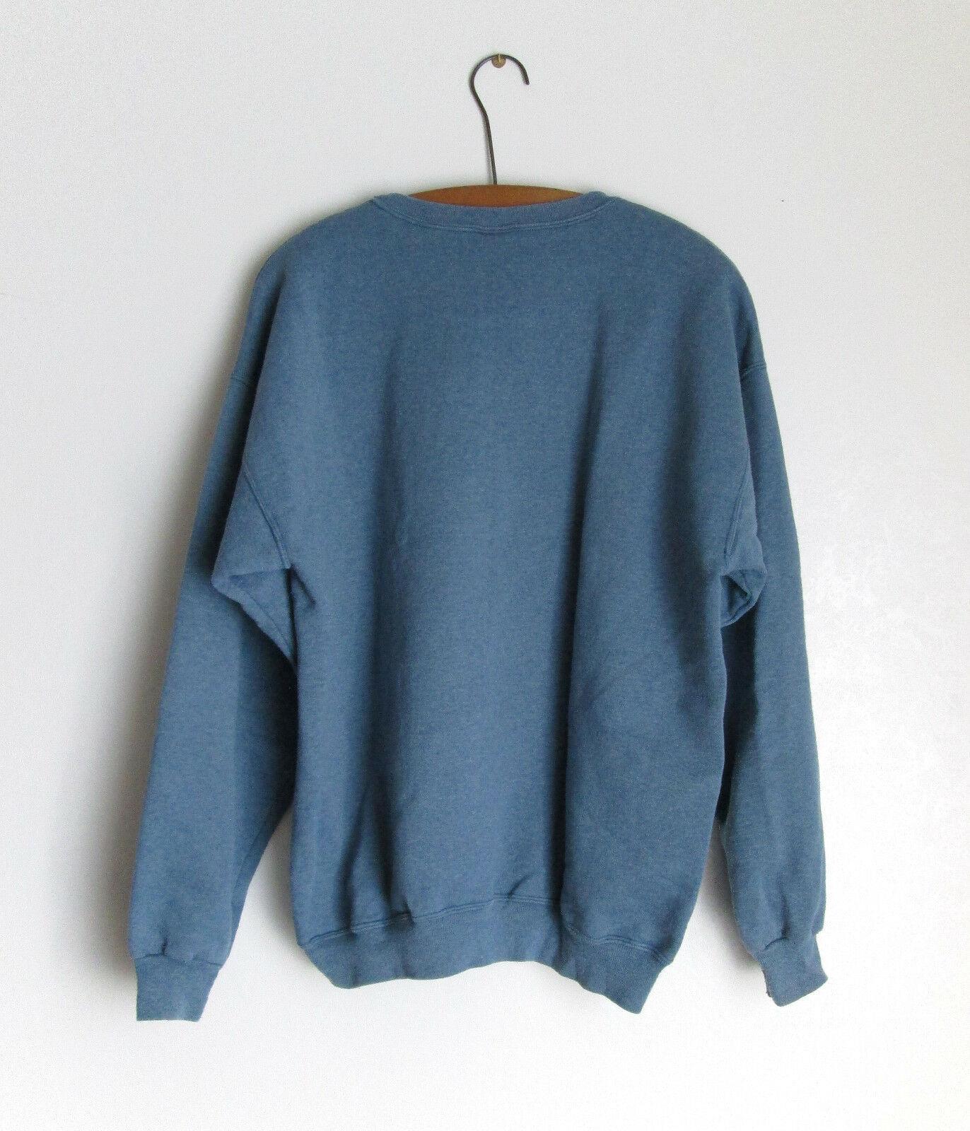 Miami Retro Faded Graphic Blue Sweatshirt Cotton Blend Size Large Champion image 5