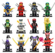 12pcs/set Game Ninjago Cartoon Minifigures Kai Jay Ultra Violet Mask of Hatred - $23.50